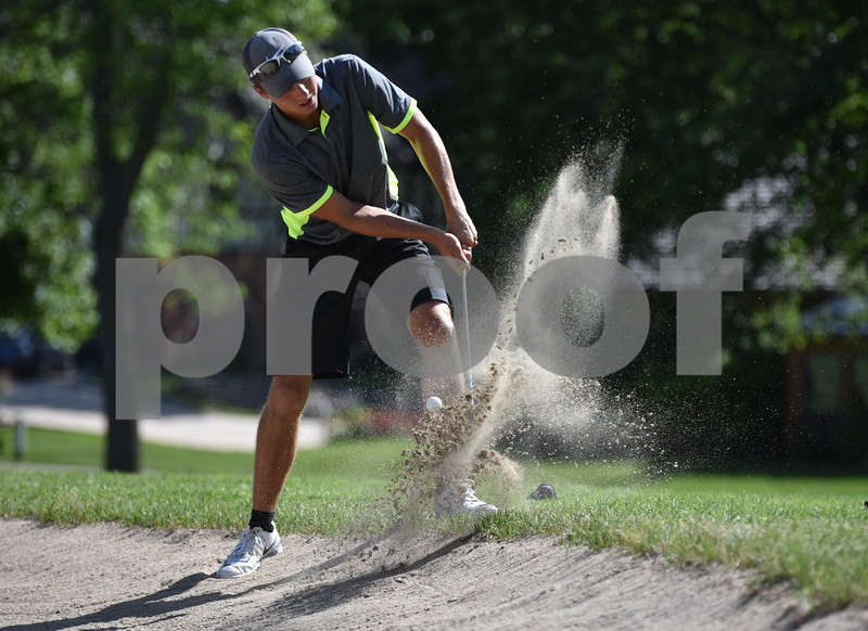-Messenger photo by Britt Kudla<br /> Alec Fuhas of Webster City compete during Fort Dodge Amateur tournament on Friday