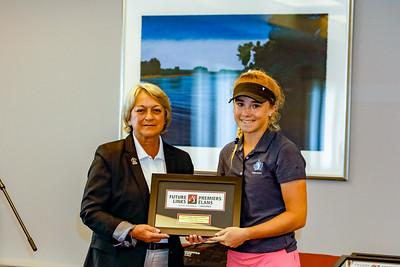 Haley Baker accepting her first place award. 2018 Terra Nova National Junior Golf Tournament Future Links