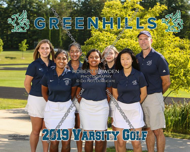 Greenhills Golf Team 8x10 2019