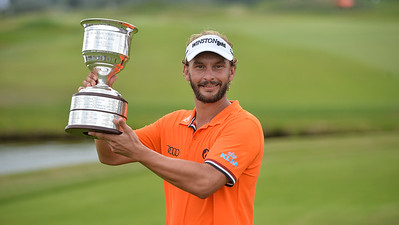 Joost Luiten from the Netherlands wins the KLM Open held at The Dutch on September 11 2016 in Spijk, Netherlands.