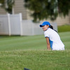 Ayako has determination on her approach shot.
