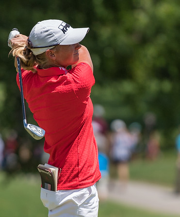 Stacy Lewis swings during the 2016 Walmart NW Arkansas Championship presented by P&G at Pinnacle Country Club in Rogers Arkansas on Sunday, June 26, 2016.  (Alan Jamison, Nate Allen Sports Service)