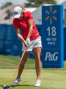 Stacy Lewis drives during uring the 2016 Walmart NW Arkansas Championship presented by P&G at Pinnacle Country Club in Rogers Arkansas on Sunday, June 26, 2016.  (Alan Jamison, Nate Allen Sports Service)