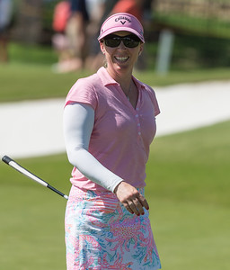 Morgan Pressel smiles after sinking a birdie on number 8 during the 2016 Walmart NW Arkansas Championship presented by P&G at Pinnacle Country Club in Rogers Arkansas on Sunday, June 26, 2016.  (Alan Jamison, Nate Allen Sports Service)