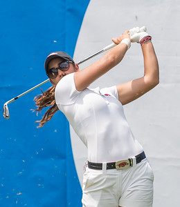 Maria Fassi hits a tee shot during the 2016 Walmart NW Arkansas Championship presented by P&G at Pinnacle Country Club in Rogers Arkansas on Saturday, June 25, 2016.  (Alan Jamison, Nate Allen Sports Service)