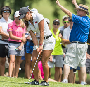 Maria Fassi hits a chip shot during the 2016 Walmart NW Arkansas Championship presented by P&G at Pinnacle Country Club in Rogers Arkansas on Saturday, June 25, 2016.  (Alan Jamison, Nate Allen Sports Service)
