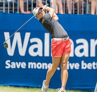 Alana Uriell tees off during the 2016 Walmart NW Arkansas Championship presented by P&G at Pinnacle Country Club in Rogers Arkansas on Friday, June 24, 2016.  (Alan Jamison, Nate Allen Sports Service)