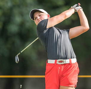 Alana Uriell drives during the 2016 Walmart NW Arkansas Championship presented by P&G at Pinnacle Country Club in Rogers Arkansas on Friday, June 24, 2016.  (Alan Jamison, Nate Allen Sports Service)