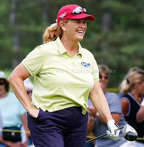 jhgolf8 - 1986 winner Judy Dickinson has a big smile after seeing her results from the 8th tee.
