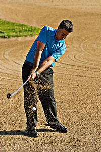Dan Goodes hitting out of bunker image #2 High Pass filter