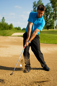 Dan Goodes hitting out of bunker image #3 (MURR4416)