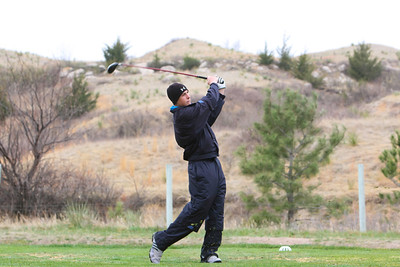 Alliance's Nick Maser hits his drive at the Sidney Invite on Thursday at the Hillside Golf Course in Sidney.