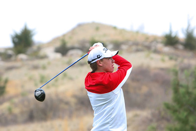 Sidney's Austin Miller watches his drive at the Sidney Invite on Thursday at the Hillside Golf Course in Sidney.