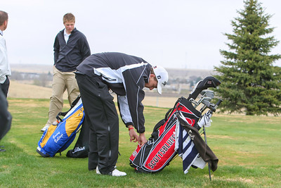 Scottsbluff's Michael Hadden at the Sidney Invite on Thursday at the Hillside Golf Course in Sidney.