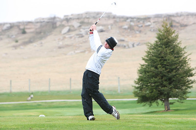 Scottsbluff's Andrew Holloway drives his shot at the Sidney Invite on Thursday at the Hillside Golf Course in Sidney.