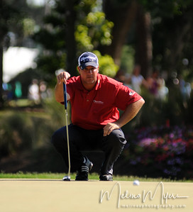 Boo Weekley lines up his putt on the 15th hole of the 2009 The Players held May 4-10 in Ponte Vedra Beach, Florida.
