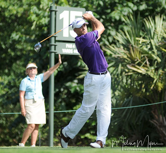 Jonathan Byrd tees off at the 15th hole of the 2009 The Players held May 4-10 in Ponte Vedra Beach, Florida.