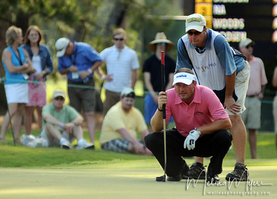Alex Cejka lines up his putt on the 12th hole of the 2009 The Players held May 4-10 in Ponte Vedra Beach, Florida.
