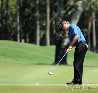 Heath Slocum makes a putt at the 11th hole of the 2009 The Players held May 4-10 in Ponte Vedra Beach, Florida.