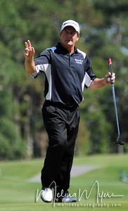 Fred Funk acknowledges the fans at the 2009 The Players held May 4-10 in Ponte Vedra Beach, Florida.