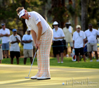 Ian Poulter makes a putt on the 12th hole of the 2009 The Players held May 4-10 in Ponte Vedra Beach, Florida.