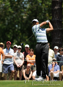Tiger Woods tees off at the 2nd hole of the 2009 The Players held May 4-10 in Ponte Vedra Beach, Florida.