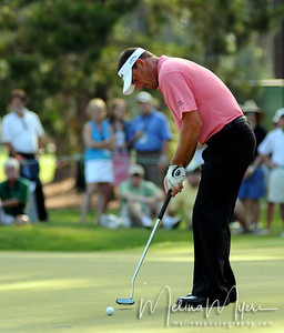 Alex Cejka makes a putt on the 12th hole of the 2009 The Players held May 4-10 in Ponte Vedra Beach, Florida.