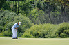 July 15, 2012; Lake Orion, MI, USA; Tom Watson (USA) putts for par on the 3rd green during the final round of the U.S. Senior Open at Indianwood Golf and Country Club. Mandatory Credit: Tim Fuller-US PRESSWIRE