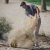 Nicolas Colsaerts at the Dubai Desert Classic at held at the Emirates Hills Golf Club in Dubai on 1st February, 2015 Photo by: Stephen Hindley©