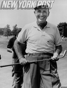 Herman Barron smiles for the camera at Golf Event. 1959