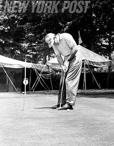 Tom Bolt Playing Golf With Winged Foot Golf Club. 1959.