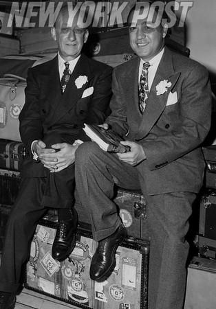 British Amateur Golf Championship participant Udo Reinach and winner Willie Turnesa. 1948