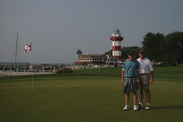 Kelly McGreehan and Dad 18th Green Harbour Town Golf Links; Hilton Head, South Carolina