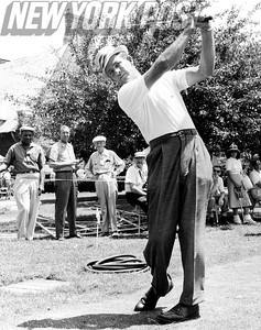 Jay Hebert Swings High For A Hole In One! 1959