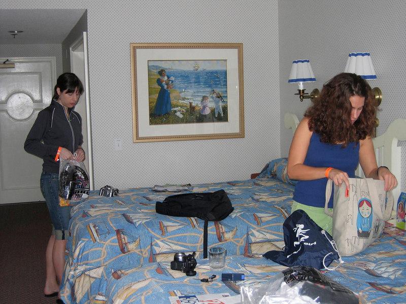 Unpacking race bags