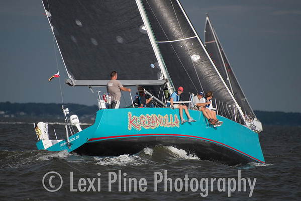 Kurranella, a Sydney 38, has all hands on deck following the evening start of the Governor's Cup Regatta last Friday.