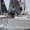 """The crew of the J/105 """"Windborn"""" test the line before the evening start of the Governor's Cup Regatta last Friday."""