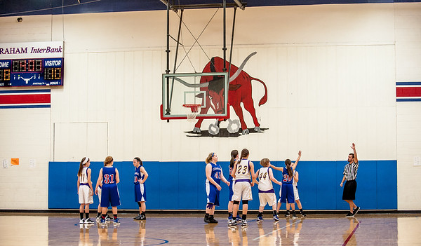 Graham JHS 8th B Lady Blues 14 vs. Wylie Lady Bulldogs 20