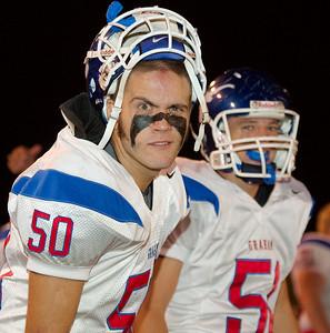 "Brady ""Bat Face"" McCool eyes the camera.  Iowa Park Hawks (09-19-2008)"