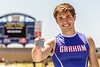 Bradley Little of Graham wins the silver medal in the pole vault at the 4A Region 1 Track & Field Championships