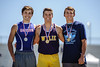 Bradley Little of Graham, Colton House of Abilene Wylie and Hunter Wigington of Midland Greenwood medal in the pole vault at the 4A Region 1 Track & Field Championships