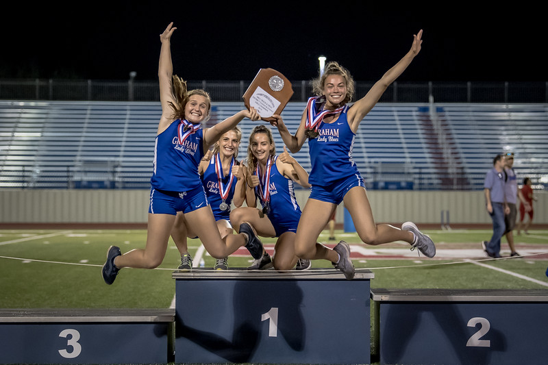 Graham Lady Blues and Steers 2019 Area Track and Field Champions