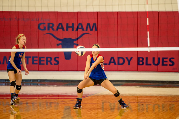Graham Freshman Lady Blues defeat the Mineral Wells Lady Rams