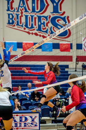 Lady Blues scare the Trojanettes in 5 game Halloween Eve playoff warm-up match