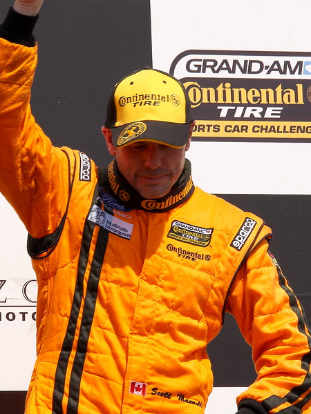 Multimatic Driver Scott Maxwell Celebrates at barber after Continental Tire Series Victory