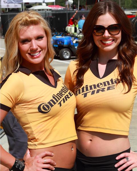 2012 Continental Tire Girls in Paddock at Barber Motorsports Park Alabama