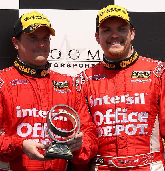 Doran Racing Tim Bell and on Podium Barber