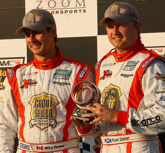 Starworks Mike Forest and Ryan Dalziel on Podium Barber