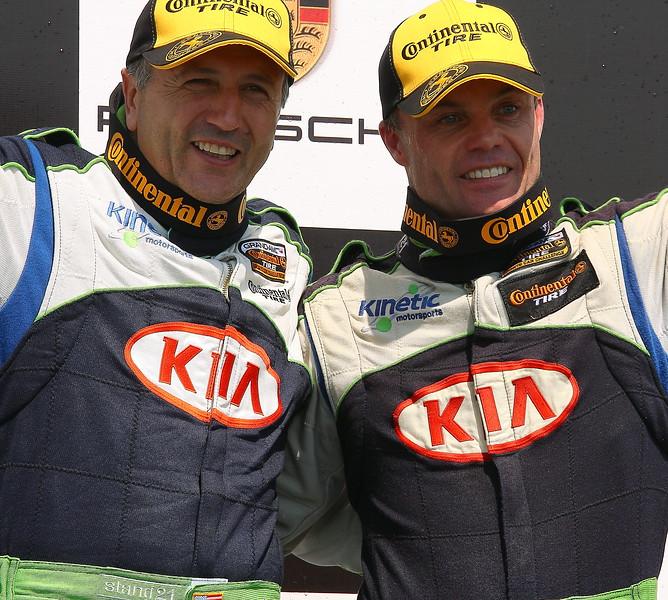 KIA Kinetic Motorsports Mike Galati and Jonsson on Podium Barber Motorsports Park
