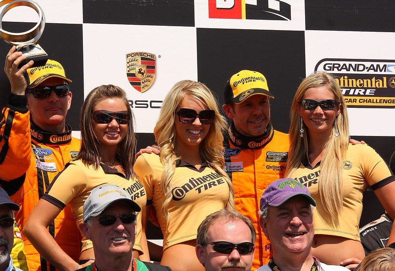 Continental Tire Podium Celebration with Team Multimatic and the Continental Tire Girls